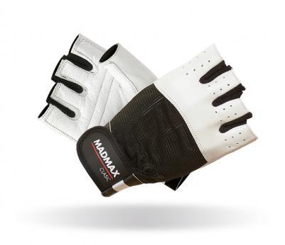 MADMAX Fitness rukavice CLASIC WHITE MFG248 white