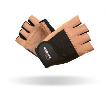 MADMAX Fitness rukavice FITNESS BROWN MFG444 brown