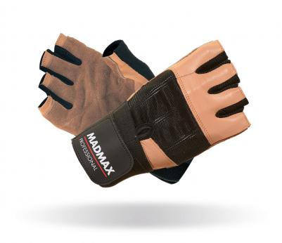 MADMAX Fitness rukavice PROFESSIONAL BROWN MFG269 brown