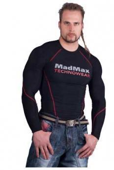 MADMAX Kompresní triko s dlouhým rukávem - black/red